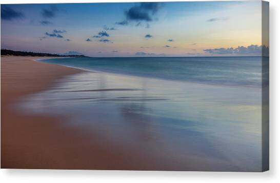 Canvas Print - Sunset Above Papohaku Beach On Molokais by Richard A Cooke Iii.