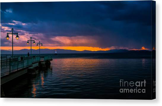 Sunset After A Passing Thundershower. Canvas Print