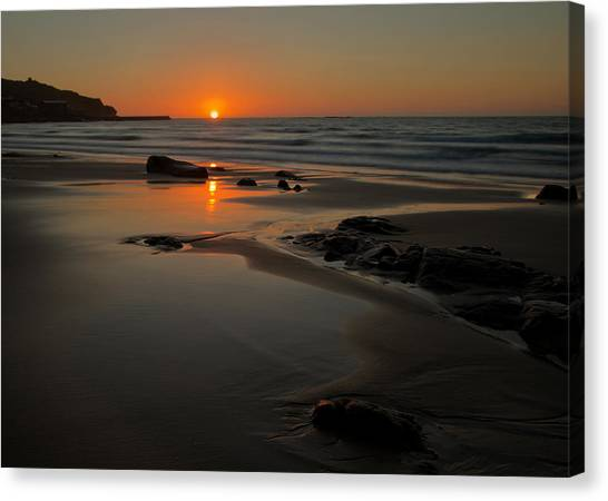 Sunset At Sennen Canvas Print