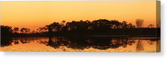 Sunset At St. Mark's Canvas Print by Karen Lindquist