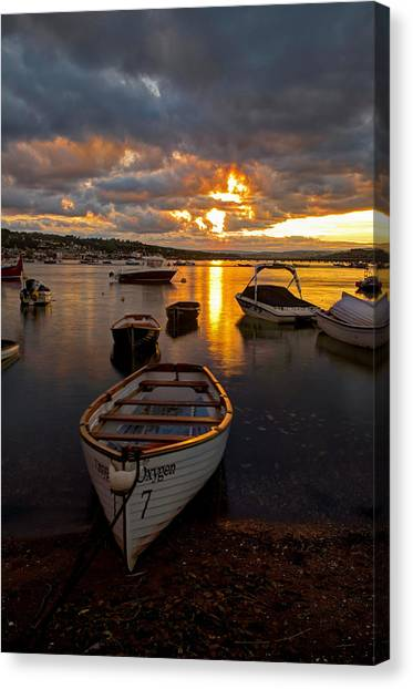 Sunset At Teignmouth Canvas Print