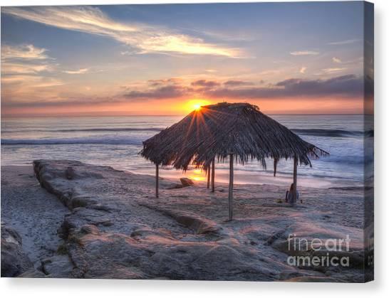 Sunset At Windansea Beach Canvas Print
