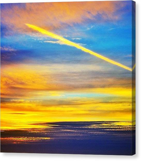 Jets Canvas Print - Californian Sunset by Freya Doney
