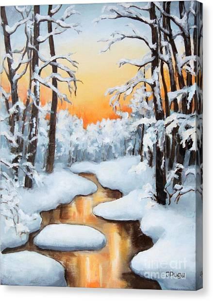 Sunset Creek Canvas Print
