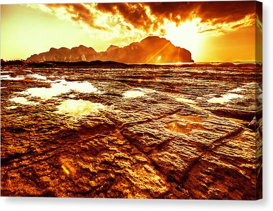 Phi Phi Island Canvas Print - Sunset In Phi-phi Don Island, Thailand by Moreiso