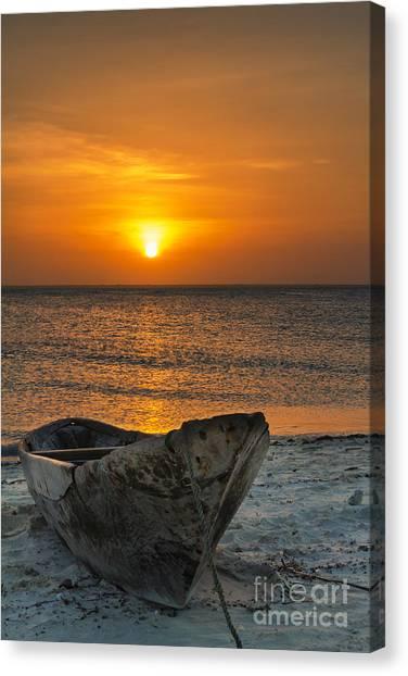 Sunset In Zanzibar - Kendwa Beach Canvas Print by Pier Giorgio Mariani