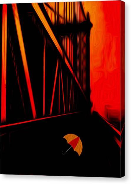 De Stijl Canvas Print - Sunset by Jack Zulli