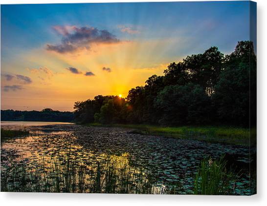 Sunset On Lake Masterman Canvas Print