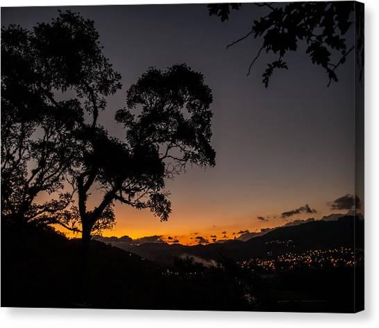 Sunset Over Copan Canvas Print