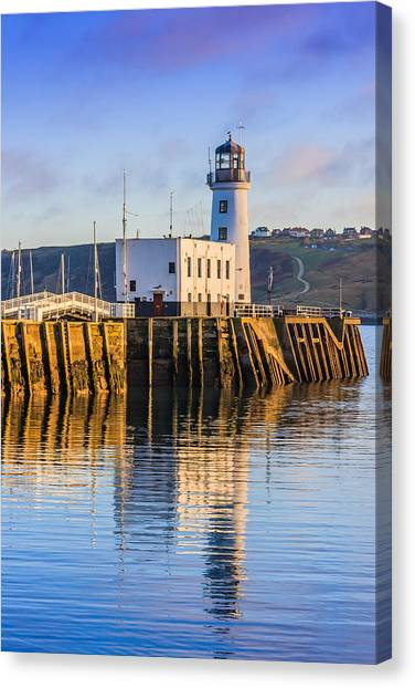 Sunset Over Scarborough Lighthouse Canvas Print