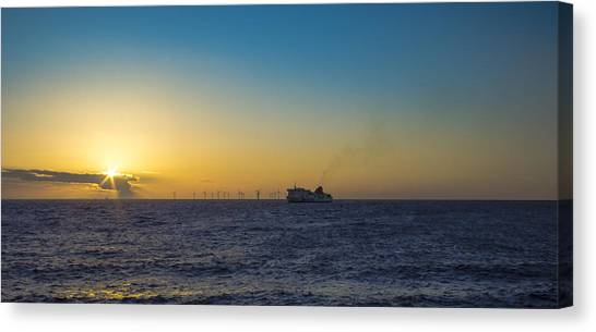 Sunset Over The Irish Sea Canvas Print by Paul Madden