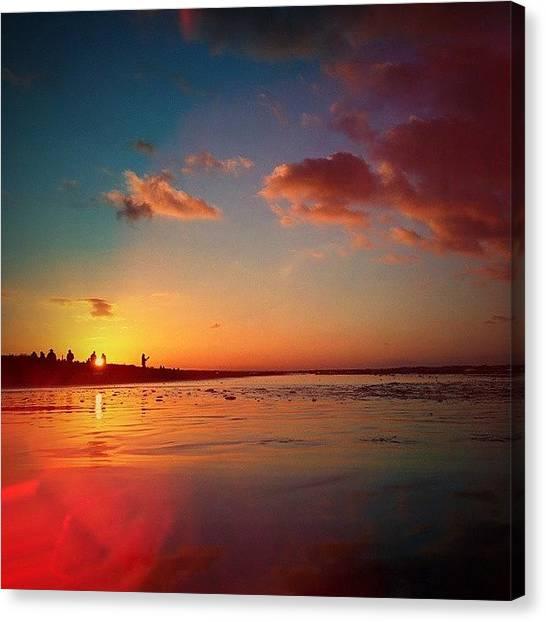 Ocean Sunrises Canvas Print - Sunset by Raimond Klavins
