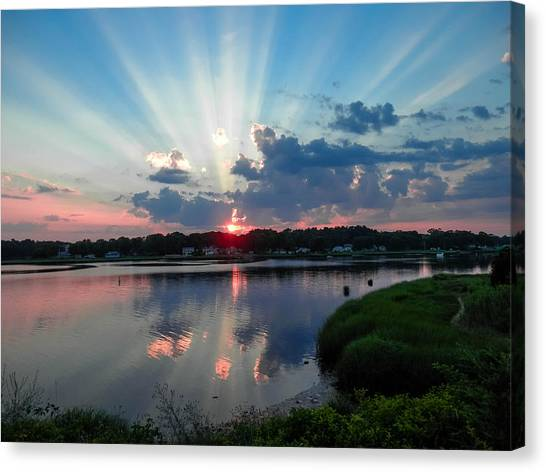 Sunset Rays Canvas Print by Heather Sylvia