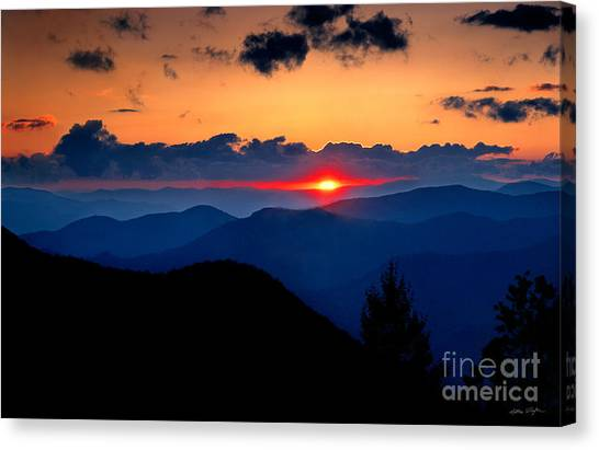 Sunset View From The Blue Ridge Parkway 2008 Canvas Print