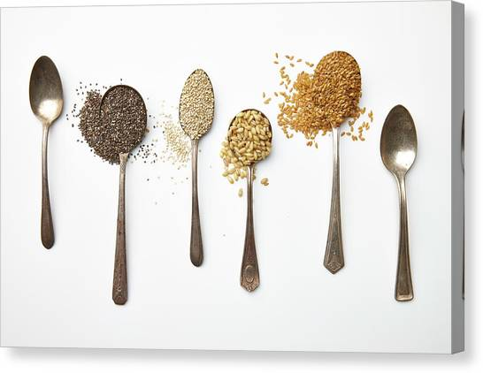 Super Food Grains Canvas Print by Lew Robertson