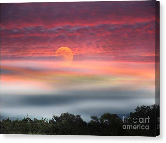 Super Moon Over Santa Rosa Canvas Print