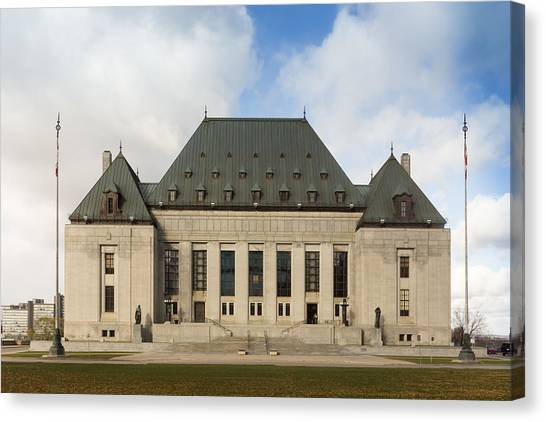 Supreme Court Of Canada Building Canvas Print