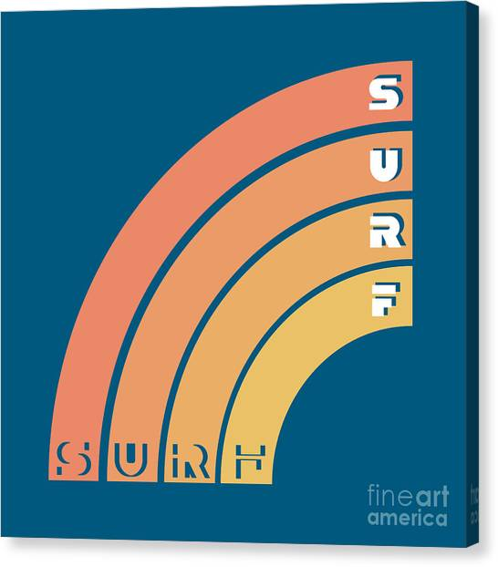 Clothing Canvas Print - Surf Typography, T-shirt Graphics by Lakoka