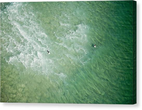 Surfers, Gold Coast Canvas Print by Brett Price
