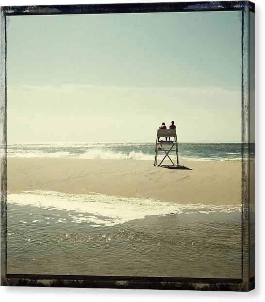 Lifeguard Canvas Print - Surfside by Natasha Marco