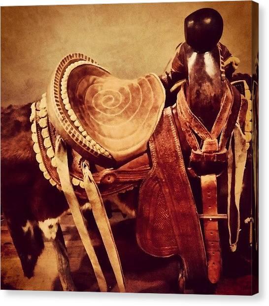 Saddles Canvas Print - Sweet Vintage Saddle In Tubac, Arizona by Chantelle Fahr