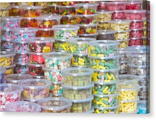 Selection Canvas Print - Sweets by Tom Gowanlock