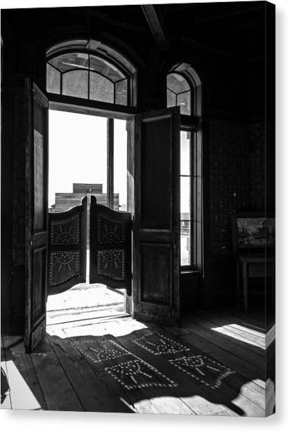 Swinging Doors Canvas Print