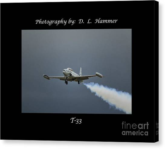 T-33 Canvas Print by Dennis Hammer