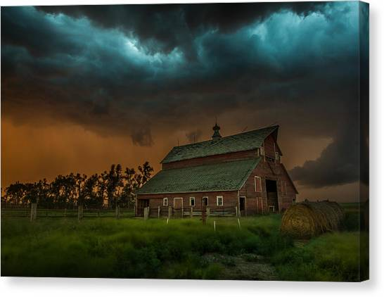 Tornadoes Canvas Print - Take Shelter by Aaron J Groen