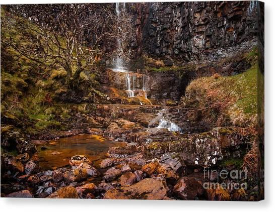 Talisker Waterfall Canvas Print by Maciej Markiewicz