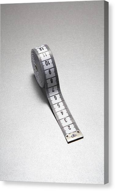 Tape Measure Canvas Print by Gary Smith/science Photo Library