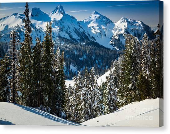 Mount Rainier Canvas Print - Tatoosh Winter Wonderland by Inge Johnsson