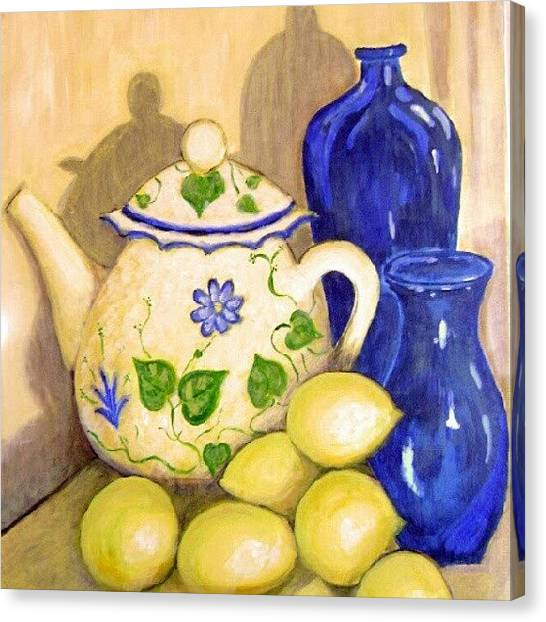 Robins Canvas Print - Tea With Lemon by Robin Mead