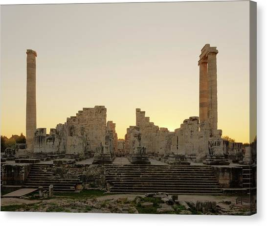 Hellenistic Art Canvas Print - Temple Of Apollo by David Parker