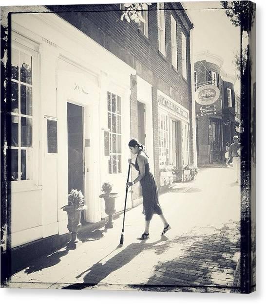 Massachusetts Canvas Print - Tending To Her Shop by Natasha Marco