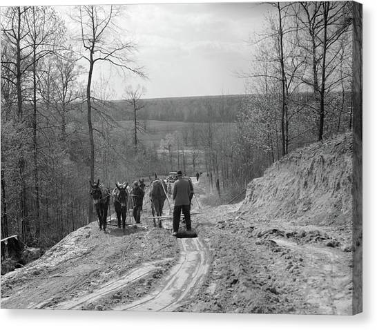 Tennessee Roads, 1936 Canvas Print by Granger