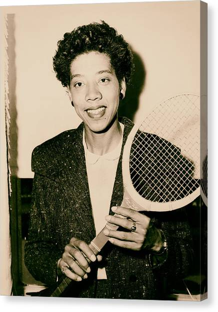 Althea Canvas Print - Tennis Great Althea Gibson 1956 by Mountain Dreams