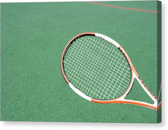 Tennis Racquet Canvas Print - Tennis Racquet by Gustoimages/science Photo Library