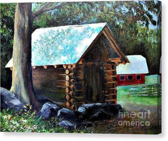 Tessentee Cabin Canvas Print