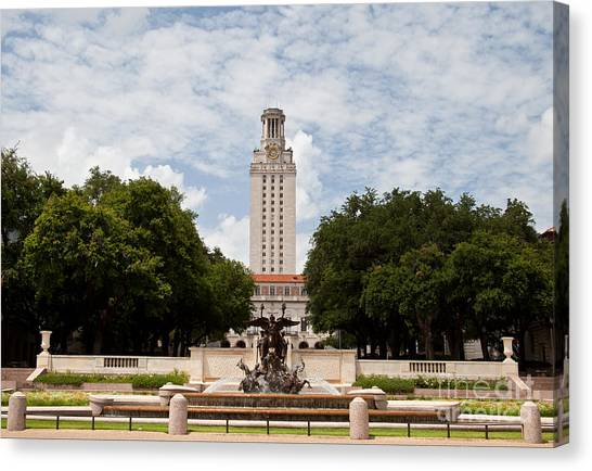 The University Of Texas Canvas Print - Texas-national Champions Tower by Randy Smith