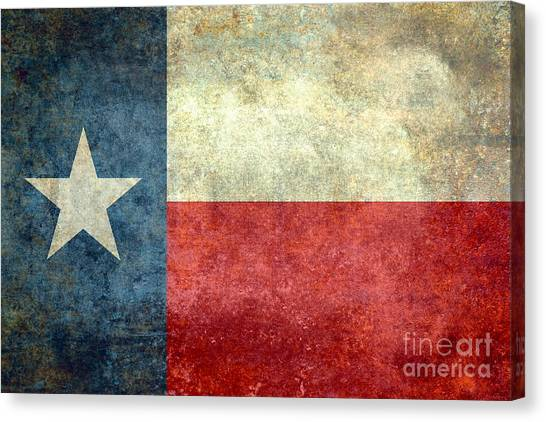 Texas The Lone Star State Canvas Print
