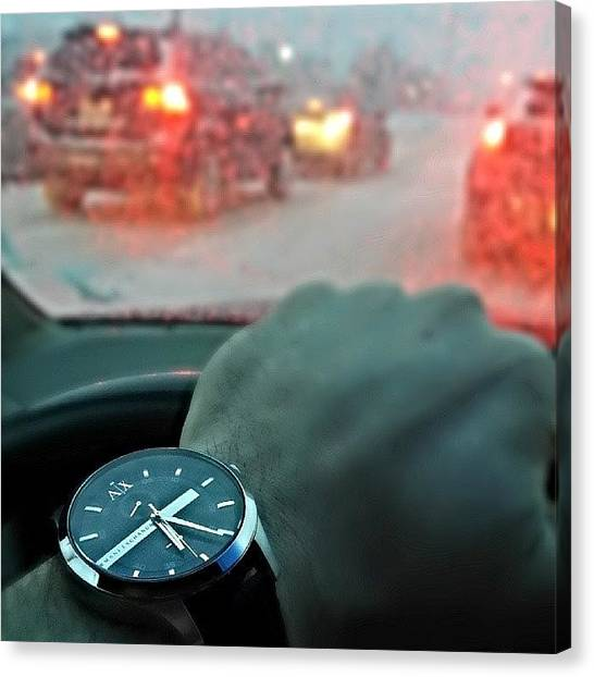 Axes Canvas Print - That Watch Game Though!  Thanks To My by Mike Bennett