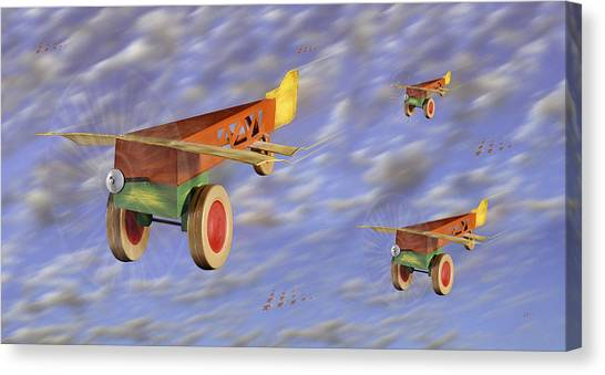 Toy Airplanes Canvas Print - The 356th Toy Plane Squadron by Mike McGlothlen