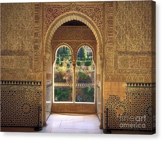 Alhambra Canvas Print - The Alhambra Torre De La Cautiva by Guido Montanes Castillo