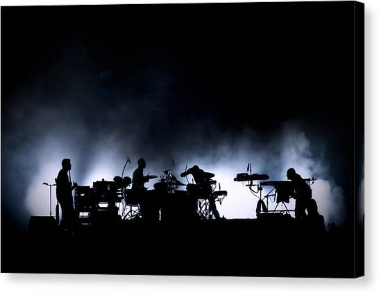 Microphones Canvas Print - The Band. by Thomas Lenne