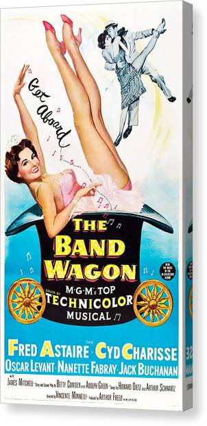 Charisse Canvas Print - The Band Wagon, Cyd Charisse, Fred by Everett