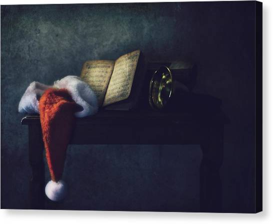 Santa Canvas Print - The Bell by Delphine Devos