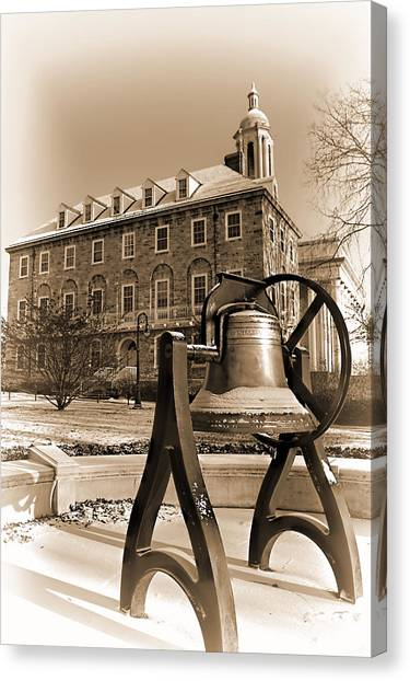 Pennsylvania State University Canvas Print - The Bell by Rusty Glessner