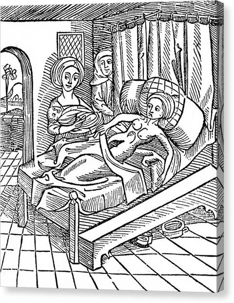 Chamber Pot Canvas Print - The Birth Of Antichrist          Date by Mary Evans Picture Library