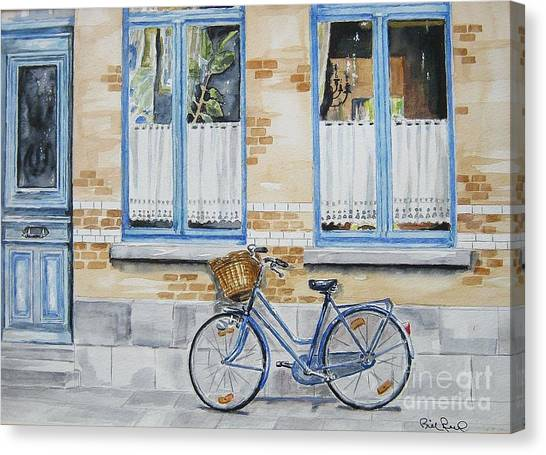 The Blue Bicycle Canvas Print